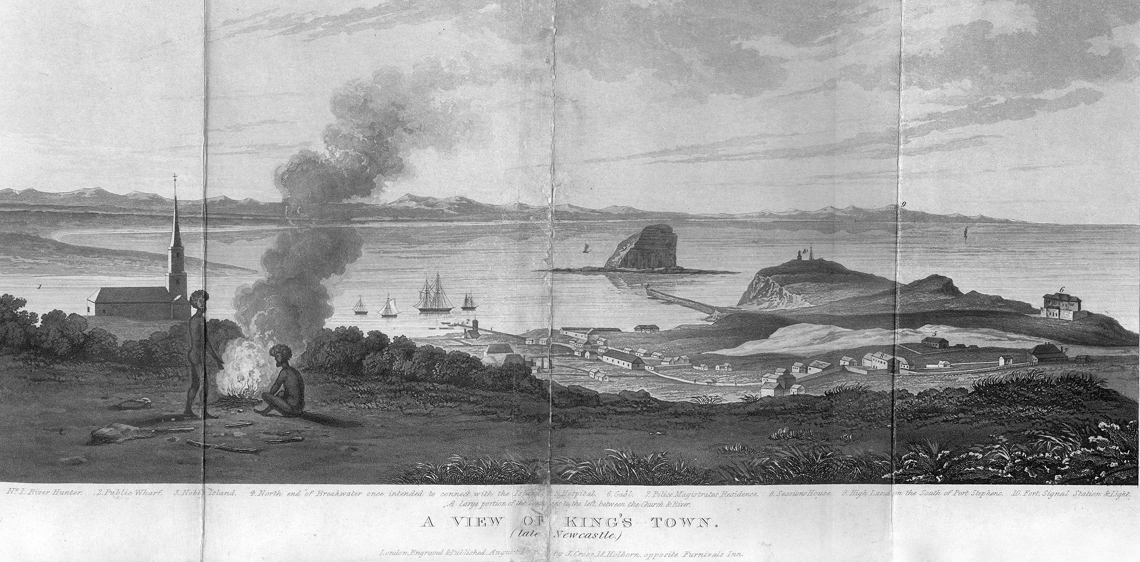 A View of King's Town (Late Newcastle) 1828