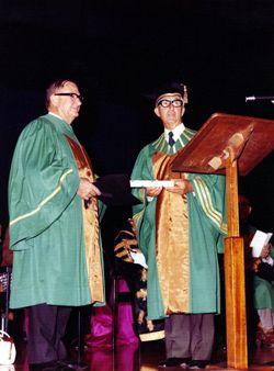 Grif Duncan and Mr Gibbs